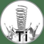icona molleggio in titanio